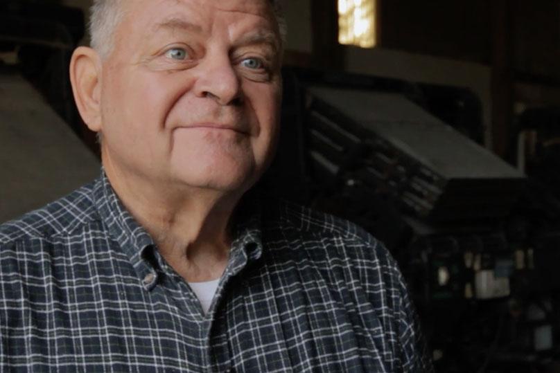 Larry Raid in Linotype Movie