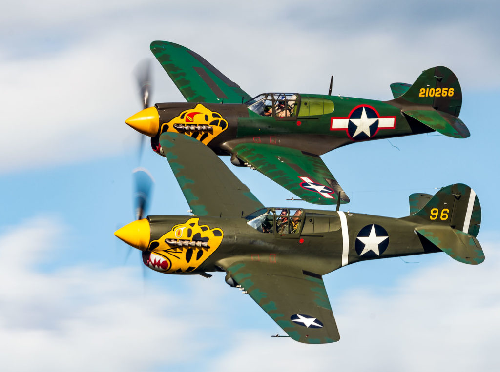 Airshow event photography - P-40s