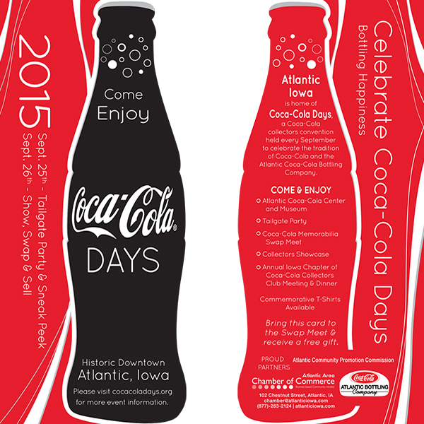 Rack Cards for Coca-Cola Days Event 2015