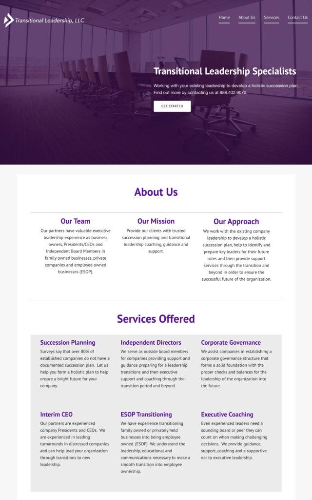 Transitional Leadership Website