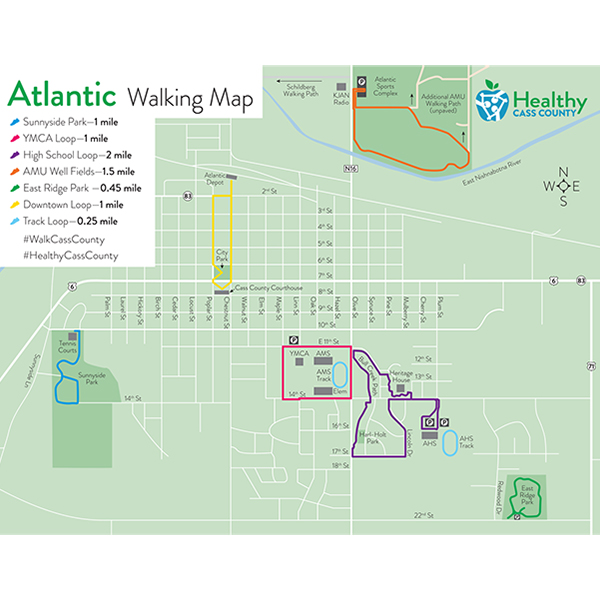 Maps - Walking Paths - Atlantic -Iowa